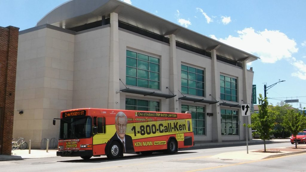 Photo of BT bus at Transit Center