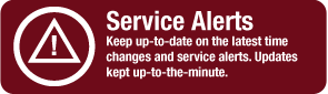 Visit our Service Alerts page