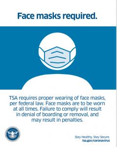 TSA Requires All Passengers to Wear Masks